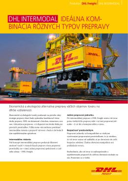 Stiahnuť brožúrku DHL Intermodal