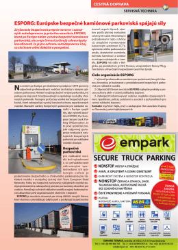 ESPORG: Európske bezpečné kamiónové parkoviská spájajú sily