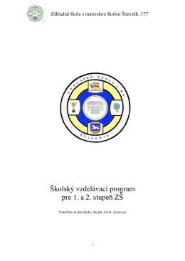 Školský vzdelávací program na školský rok 2014/2015