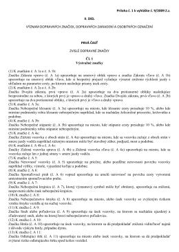 Príloha č. 1 k vyhláške č. 9/2009 Z.z. II. DIEL VÝZNAM