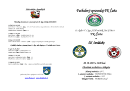 13. kolo V. Liga JUH ročník 2013/2014 FK Čaňa