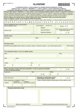 Hlásenie o vyúčtovaní dane za rok 2011
