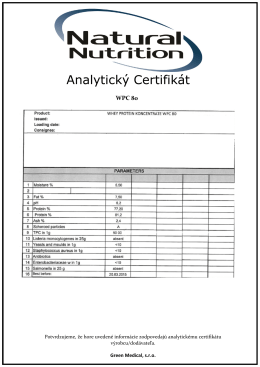 Analytický Certifikát
