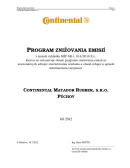 Program znižovania emisií 2012_Kotolňa