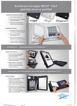 Konferenčné mapy WEDO® iPad upútajú na prvý pohľad