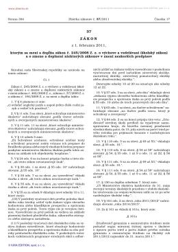 Zákon č. 37/2011