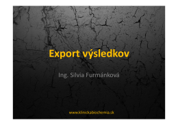 Export výsledkov