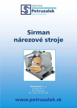 Sirman nárezové stroje
