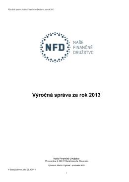 Výročná správa 2013.pages