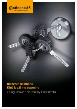Riešenie na mieru Kľúč k vášmu úspechu Celogumové pneumatiky