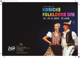 bulletin Košických folklórnych dní 2013