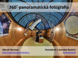 360˚ panoramatická fotografia
