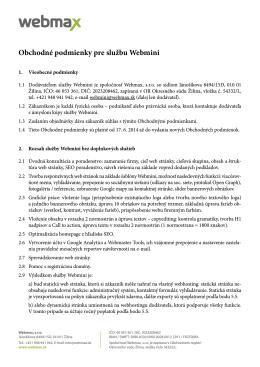 Obchodné podmienky pre službu Webmini