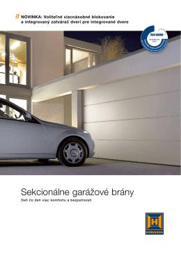 Sekcionálne garážové brány - EL