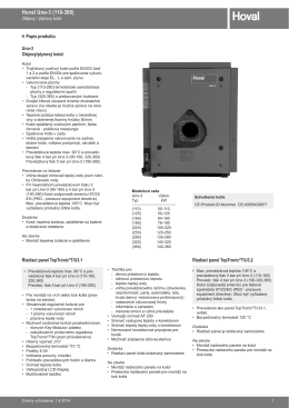 Uno - 3 ( 110 - 360 ) - technický katalog