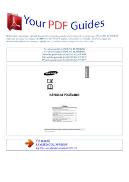 Návod na používanie SAMSUNG RL39WBSW