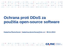 Ochrana proti DDoS za použitia open-source software