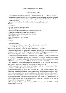 zápisnica a uznesenia 13.6.2014