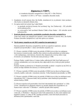 Zápisnica č.7 zo dňa 9.12.2011
