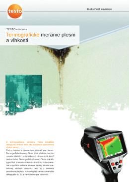 Termografické meranie plesni a vlhkosti