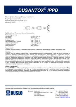 DUSANTOX IPPD - Duslo a.s., Šaľa