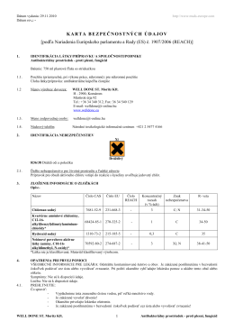 Antibakteriálny prostriedok - proti plesni, fungicíd _SK