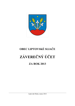 ZÁVEREČNÝ ÚČET - Obec Liptovské Sliače