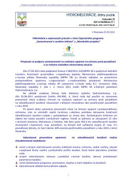 Protipovodňová ochrana - informácie