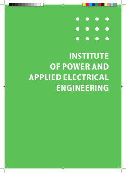 INSTITUTE OF POWER AND APPLIED ELECTRICAL ENGINEERING