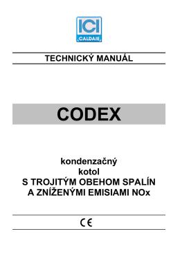 Technický manuál Codex na stiahnutie