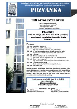 POZVÁNKA - Zateplovanie Stavcentrum