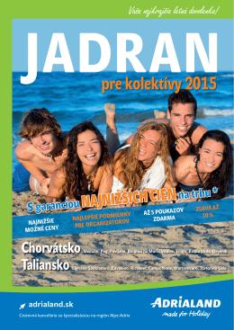 KATALÓG JADRAN pre kolektívy 2015
