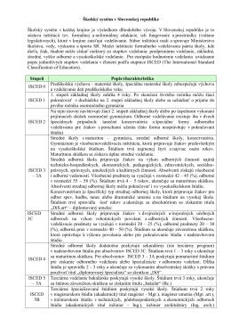 Vzdelávací systém v Slovenskej republike