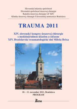 TRAUMA 2011 - Slovenská lekárska spoločnosť