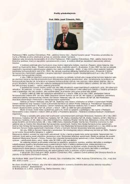 Profily přednášejících: Prof. RNDr. Jozef Čižmárik, PhD