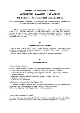 VZN č.7 z r. 2012