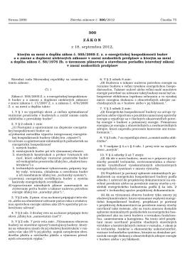 Čiastka 75/2012 (300) - Energetický certifikát budovy