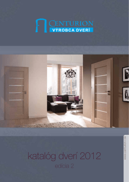 katalóg dverí 2012