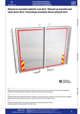 Instrukcja montażu drzwi ALU