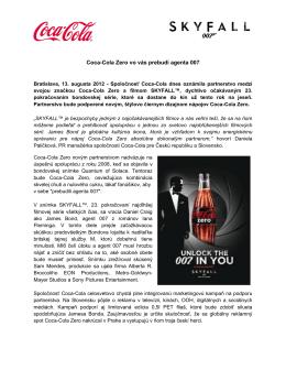 Coca-Cola Zero vo vás prebudí agenta 007