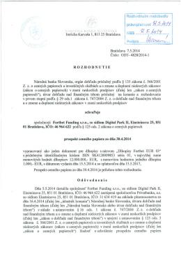 Prospekt Emitenta - pdf