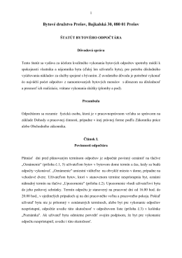 Čítať viac - Bytové družstvo Prešov