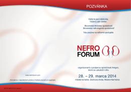 Program NEFROFORUM 2014 - Slovenská nefrologická spoločnosť