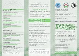 s interdisciplinárnou účasťou v dňoch 19.10. – 21.10.2012