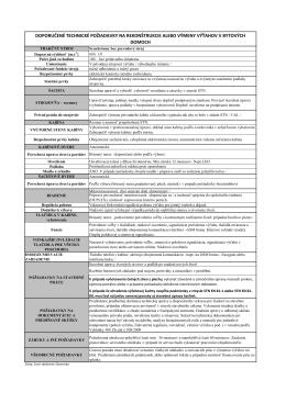 Požiadavky pre rekonštrukciu výťahu