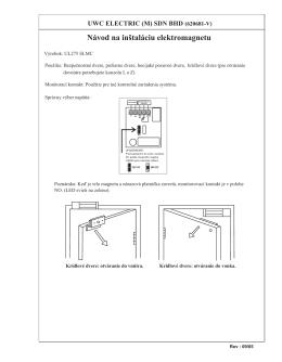 Elektromagnet- základná inštalácia