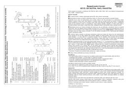 Bezpečnostní kování 807/O, 807/ASTRA, R4/O, R4/ASTRA
