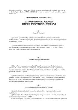 VZN č. 2/2011 o odmeňovaní poslancov OZ (349 kb pdf)