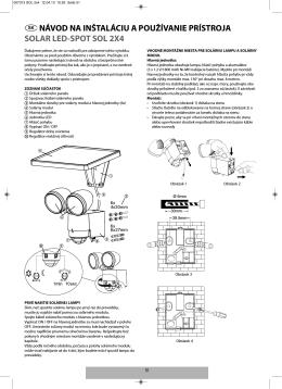 návod na inštaláciu a používanie prístroja solar led