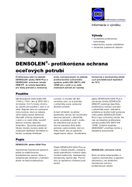 DENSOLEN- protikorózna ochrana oceľových potrubí